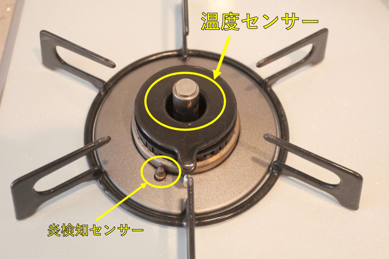 原因⑤:温度センサーなどに汚れが付着している