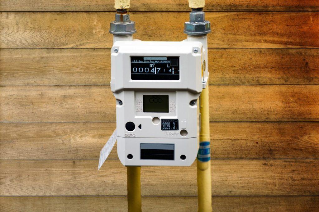 ガスメーターも地震を感知して自動遮断する
